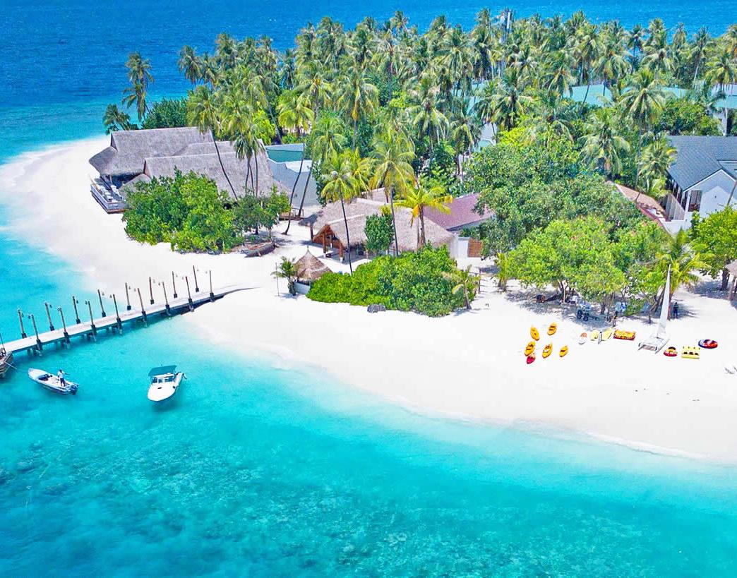Остров на Мальдивах.