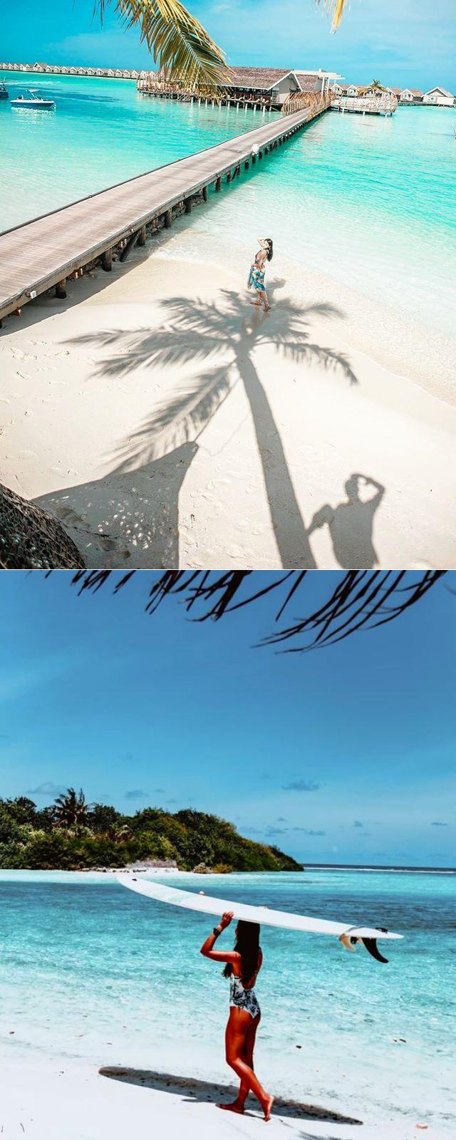 Где можно сделать красивое фото для Инстаграм? На Мальдивах и в Москве